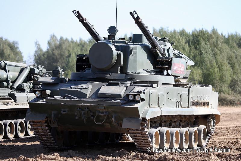 2S6M combat vehicle of 2K22M Tunguska-M system