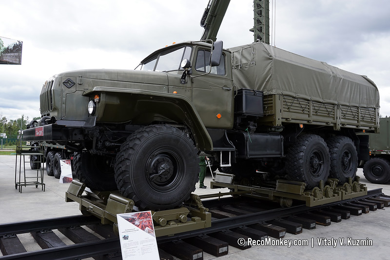 UKKh railroad truck for wheeled vehicles