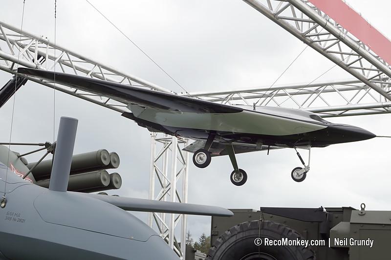 Okhotnik UAV model