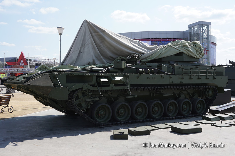 Heavy infantry fighting vehicle T-15 Armata object 149 with 57mm gun and 9M120 Ataka ATGM
