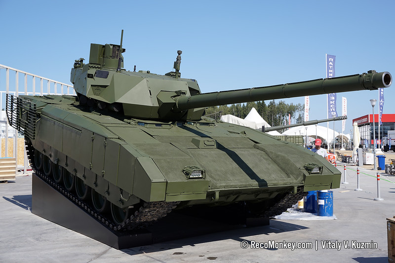 Main battle tank T-14 object 148 on heavy unified tracked platform Armata