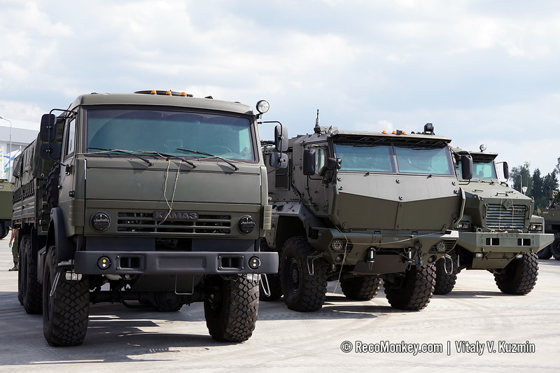 KAMAZ-5350 with MM-501, KAMAZ-63968 and Ural-63095