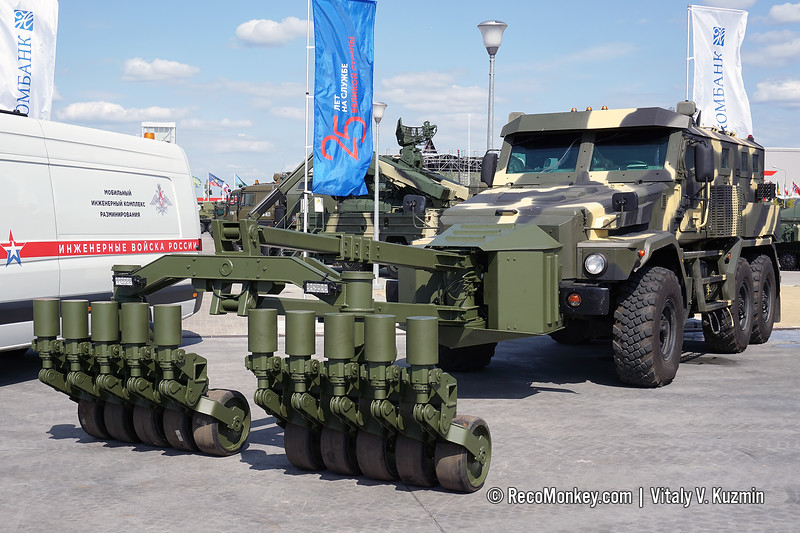 Patrul 6x6 armored vehicle with mine rollers