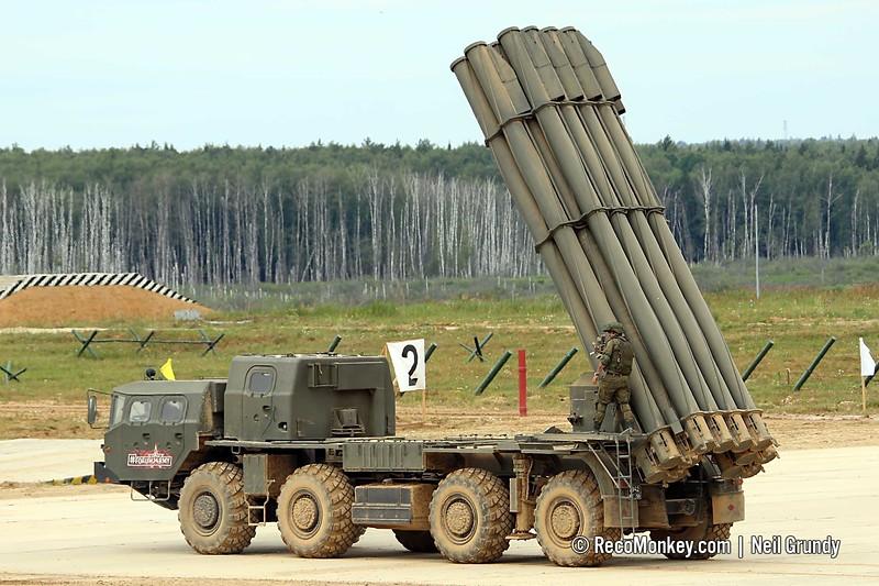 9A52-2 9K58 / BM-30 Smerch MLRS
