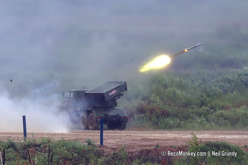 2B17M combat vehicle of 9K51M Tornado-G MLRS