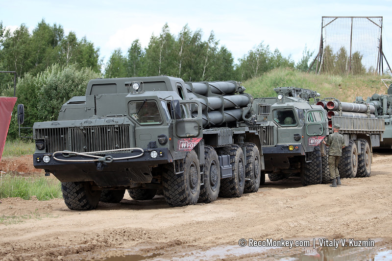 9A52-2 and 9T234-2 9K58 / BM-30 Smerch MLRS
