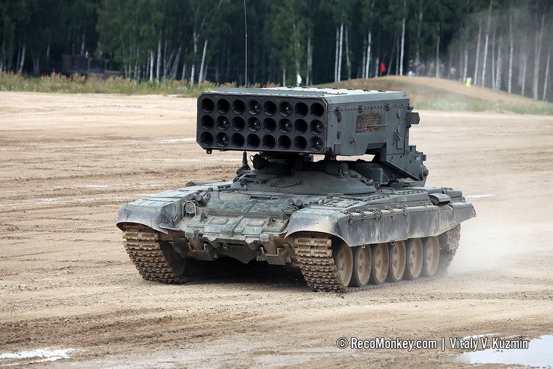 BM-1 combat vehicle of TOS-1A heavy flamethrower system