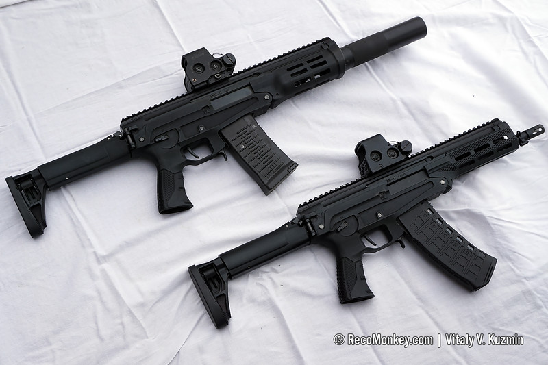 5.45x39mm AM-17 and 9x39mm AMB-17 compact assault rifles