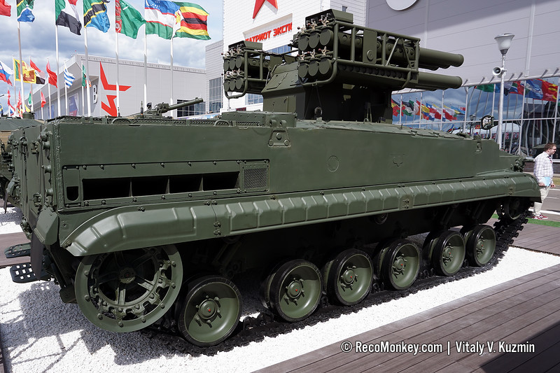 Sosna air defense missile system on BMP-3 chassis