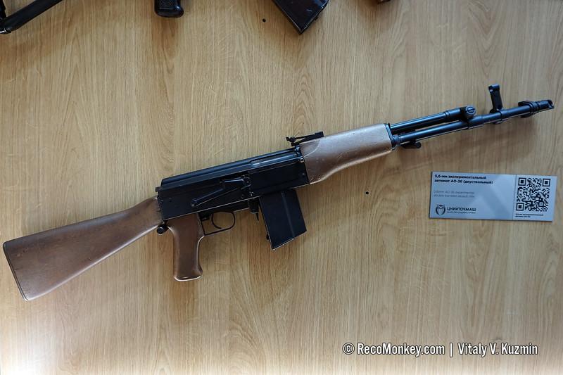 5,6mm AO-36 experimental double-barreled assault rifle