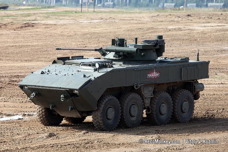 Wheeled IFV BMP-K K-17 with B05Ya01 Berezhok turret on platform VPK-7829 Bumerang