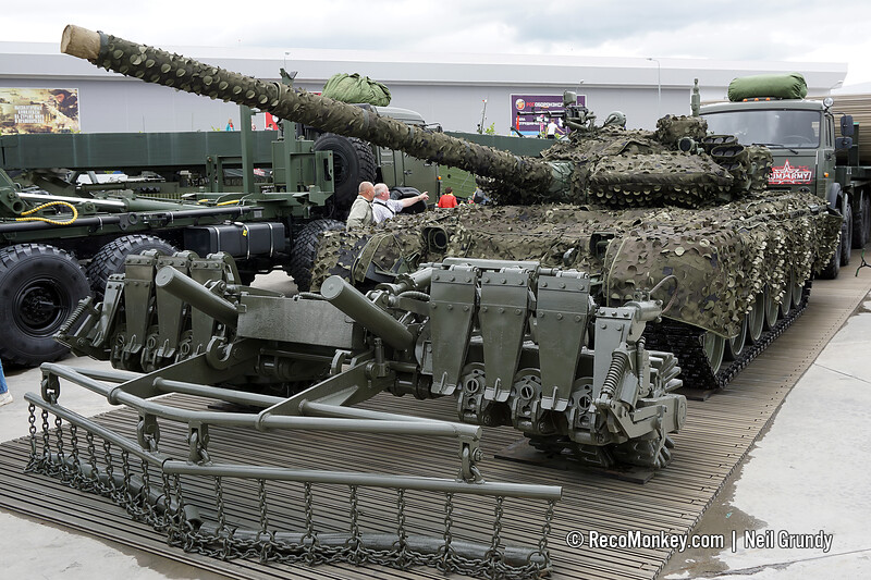 T-72B3 with MMK-B3 camouflage and TMT-K mine roller