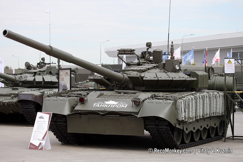 The second T-80BVM at exhibition
