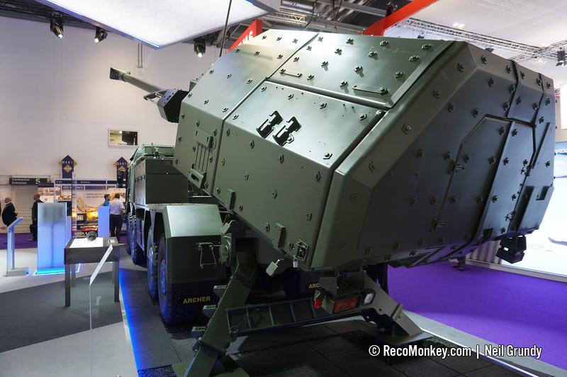 155mm Archer mounted on Rheinmetall RMMV HX2 8×8