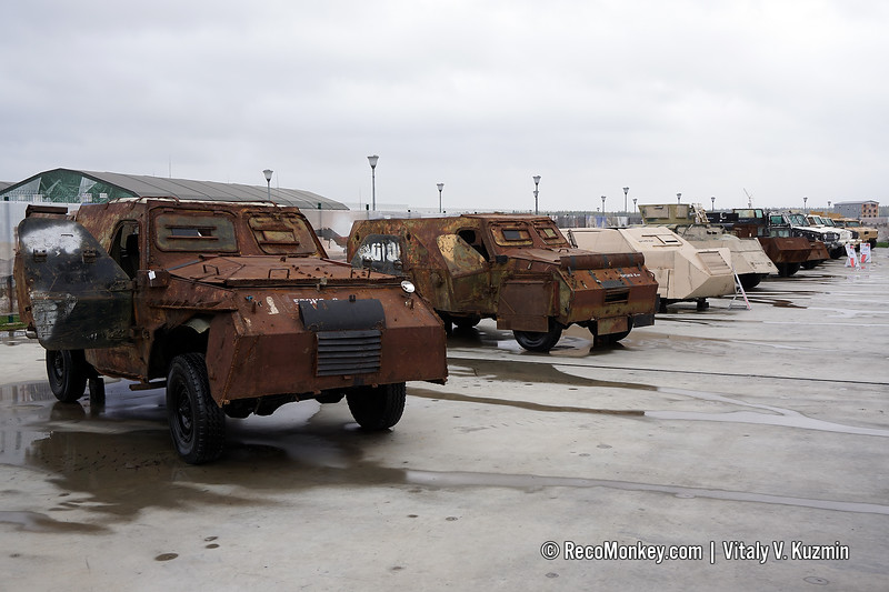 Captured armored vehicles from Syria