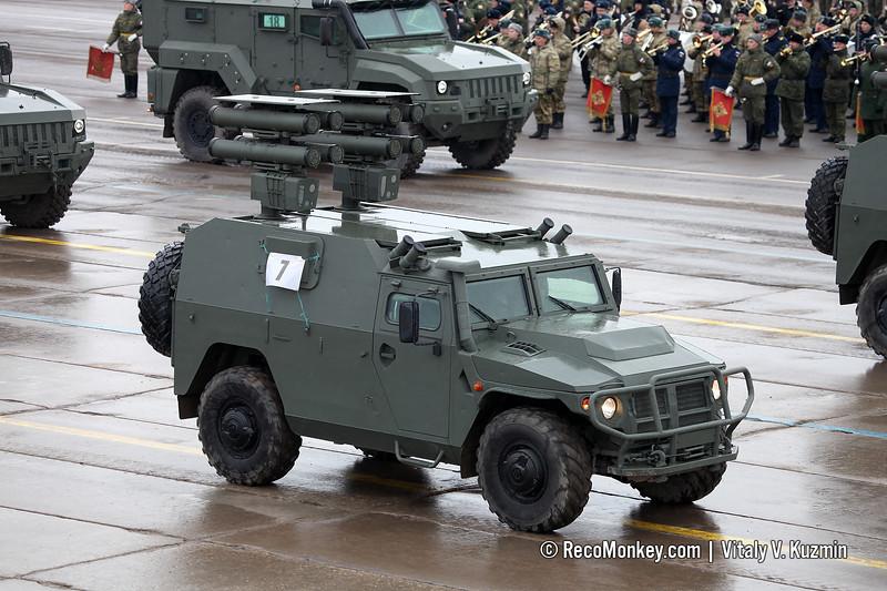 Kornet-D1 ATGM system on VPK-233116 Tigr-M base