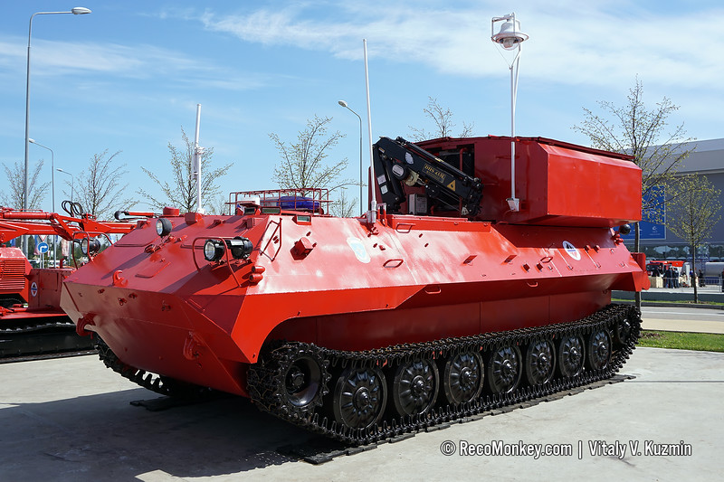 Pumping vehicle from Kedr unmanned fire fighting system