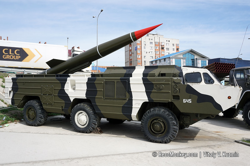 BAZ-5922 chassis visually modified to be 9P129 TEL of Tochka missile system