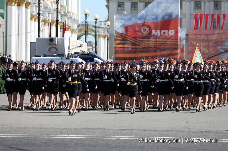 Female cadets of Saint Petersburg University of Ministry of Internal Affairs