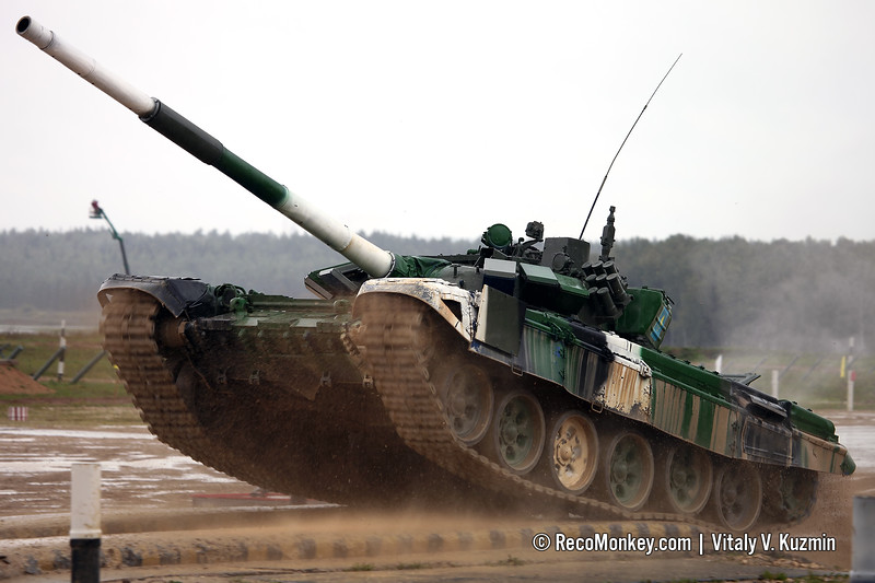 T-72B3 tank of Kazakhstan team