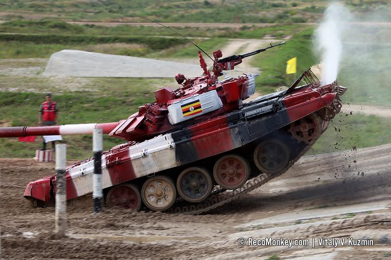T-72B3 tank of Uganda team