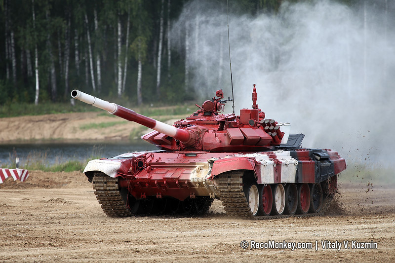 T-72B3 tank of Uganda team