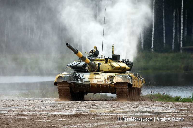 T-72B3 tank of Serbian team