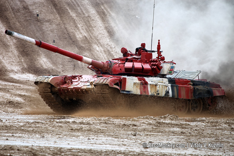 T-72B3 tank of Azerbaijan team