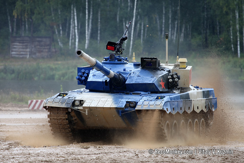 Type 96B tank of Chinese team