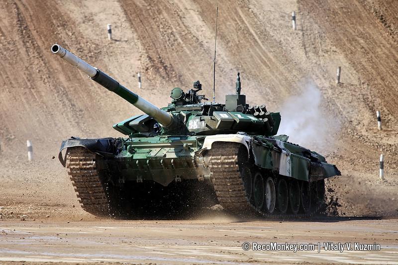 T-72B3 tank of Uzbekistan team