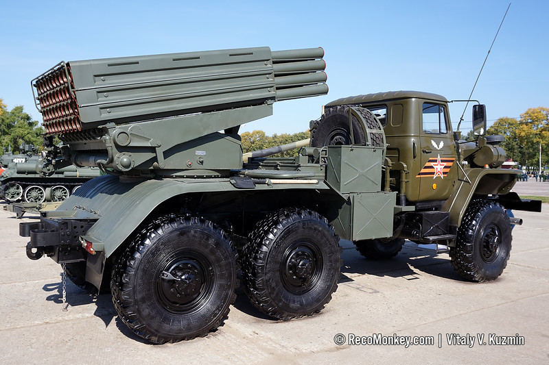 BM-21-1 combat vehicle 9K51 Grad MLRS