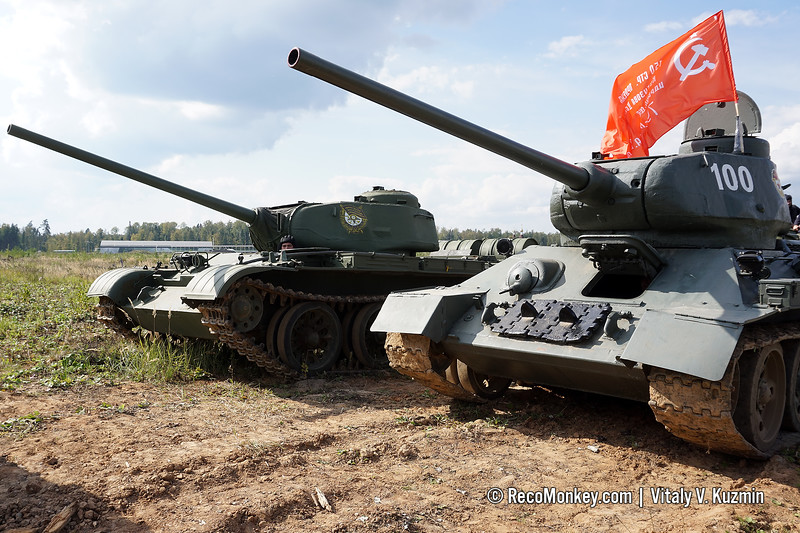 T-44MS and T-34-85