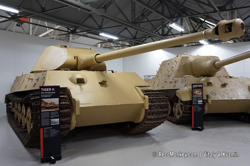 "Panzerkampfwagen VI Ausf. B Tiger II with early turret also know as ""Porsche"" turret"