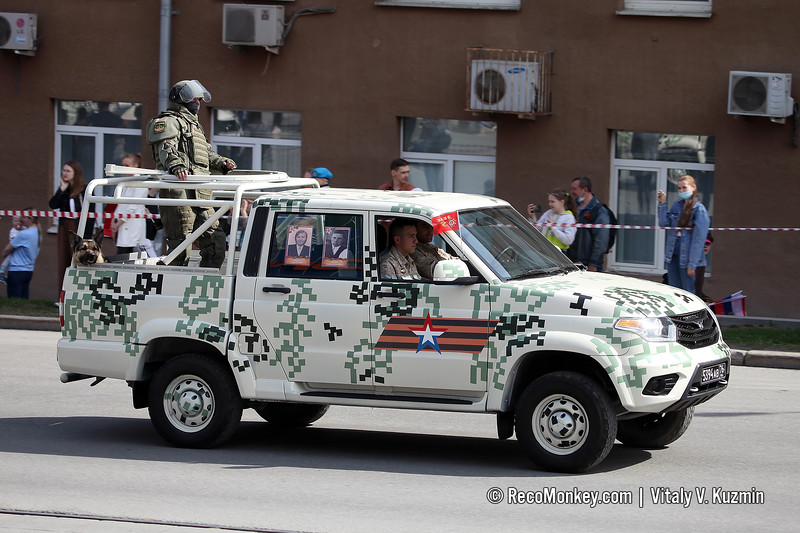 UAZ-23632-148-65 Pickup and combat engineer in OVR-3Sh suit