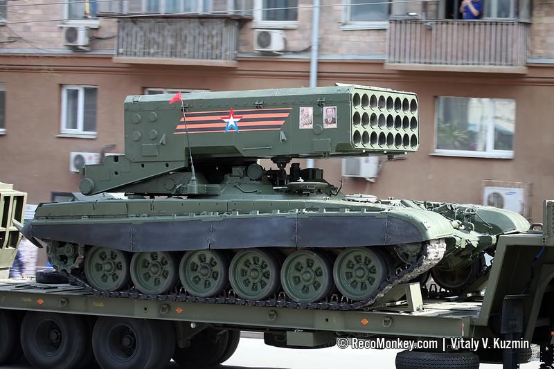 BM-1 TOS-1A launcher