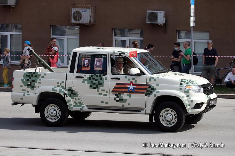 UAZ-23632 Pickup with 2B14 Podnos mortar