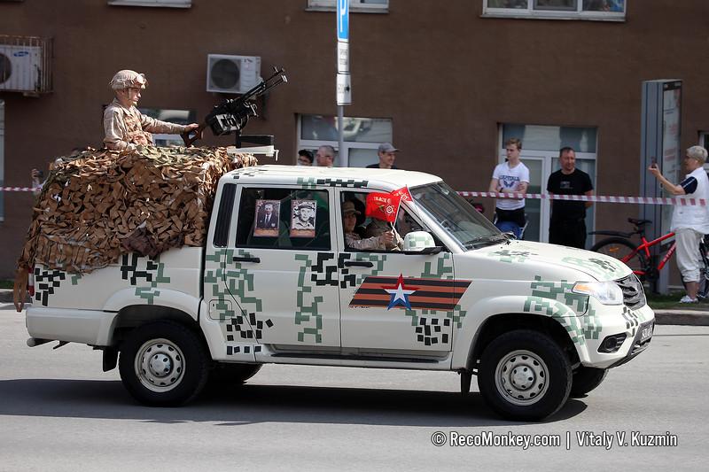 UAZ-23632-148-65 Pickup with PKM machine gun