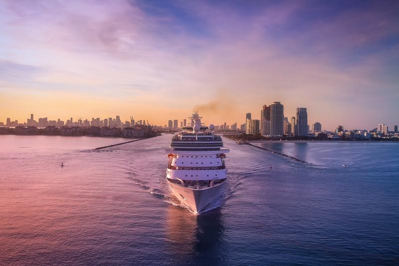 Exiting Port Miami