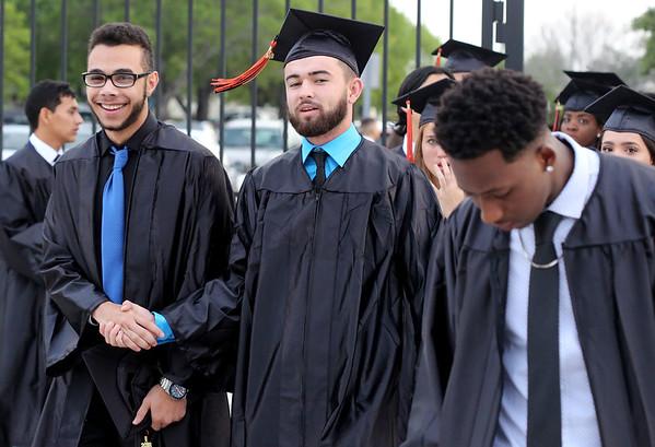 051718 - WEST PALM BEACH - John I. Leonard High School graduation at The South Florida Fairgrounds on Thursday, May 17, 2018. Photo by Tim Stepien.