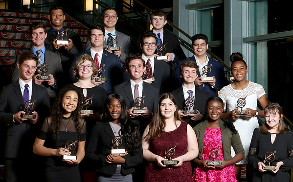 051718 - WEST PALM BEACH -  The winner of the 2018 Pathfinder High School Scholarship Awards pose for a photo at the Kravis Center for the Performing Arts in West Palm Beach. (Tim Stepien/The Palm Beach Post)