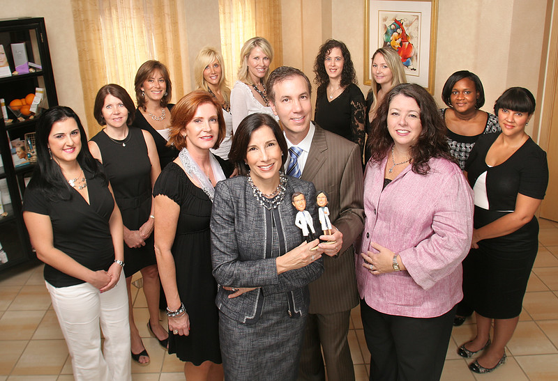 081810 - PALM BEACH GARDENS - Group photo taken at Dr. Andrea Hass and Dr. Brian Hass plastic surgery office located at 2401 PGA Boulevard, Palm Beach Gardens.  Photo by tim stepien