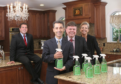 101409 - LAKE WORTH - FLORIDA - L TO R -  John DiCostanzo, (Account Executive, The Palm Beach Post),  Steven Locante, (Owner/Inventor, Dor Menica's), John Deese, (Owner Dor Menica's), Phyllis Maas,(Vice-President, Maas Media). Photo by Tim Stepien
