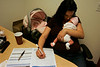 August 17, 2006_La Mesa, CA_LINDA SELTZER, independent insurance agent, left, helps  RAE FISCHER, right, with three-week-old OLIVIA DI BERNARDO, of Spring Valley, shops for health insurance._Mandatory Credit photo by Laura Embry/San Diego Union-Tribune/Zuma Press, copyright 2006 San Diego