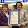 Eileen Bulan, Vermilion Mayor presenting Proclamation to Janet Ford.