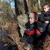TIM JEAN/Staff photo<br />   <br /> Evan Miras, 4, of North Reading, and his twin sister Georgiana, wait for the fish to bite during the Andover Sportsmen's Club annual fishing derby at Sudden Pond in Harold Parker State Forest.  4/21/18