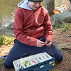 TIM JEAN/Staff photo<br />   <br /> DJ Repetto, 13, of Andover, changes from a spinning lure to bait during the Andover Sportsmen's Club annual fishing derby at Sudden Pond in Harold Parker State Forest.  4/21/18