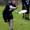 TIM JEAN/Staff photo<br />   <br /> Andover Ultimate's Declan Woodring reaches out and makes a catch as he and his teammates practices in-between a match.      4/28/18