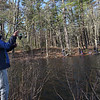 TIM JEAN/Staff photo<br />   <br /> Spencer Nelson, 12, of Andover, cast his line into the water during the Andover Sportsmen's Club annual fishing derby at Sudden Pond in Harold Parker State Forest.  4/21/18