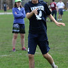 TIM JEAN/Staff photo<br />   <br /> Andover Ultimate's Ian McKenna throws a frisbee toward his teammates as his team practices in-between a match. Behind him is coach Hannah Krieger.  4/28/18