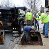 TIM JEAN/Staff photo<br />   <br /> Members of Andover's Department of Municipal Services place a Red Maple tree in a much wider tree pit filled with CU Structural Soil developed by Cornell University along Main Street during an Arbor day celebration.  4/27/18